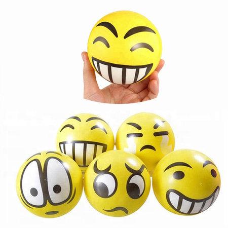 Banzaa Emoji Stressbal 3 Stuks Medium Density – Voor het Reduceren van Stress – Geel