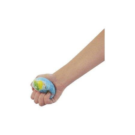 Banzaa Stressbal Hard Density 3 Stuks – 6 cm – Anti Stress– Wereldbol