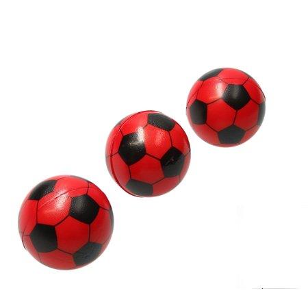 Banzaa Stressbal Medium Density Voetbal 3 Stuks – Sensomotorische Stimulatie – Anti-Stress – Rood