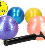 Educatieve Ballen set Inclusief Gratis Pomp – Verbeterde Motorische Ontwikkeling – Sensorische Stimulatie – 4 Stuks