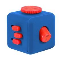 Fidget Cube – Wriemel Kubus  Blauw Rood