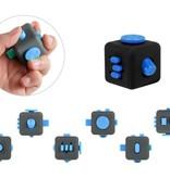 Banzaa Fidget Cube – Wriemel Kubus – Anti-Stress Speelgoed – Wriemel Stick – Zwart Blauw