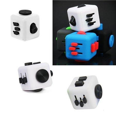 Banzaa Fidget Cube – Wriemelkubus –Anti-Stress Speelgoed – Wriemel Stick – Wit Zwart
