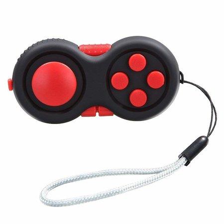 Banzaa Calm Pad Fidget Pad – Wriemelkubus – Anti Stress Speelgoed – Fidget Cube – Wriemel Stick – Zwart Rood