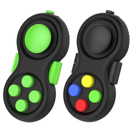 Banzaa Calm Pad Fidget Pad – Wriemel Pad – Wriemelkubus – Wriemel Stick – Zwart Groen