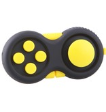Banzaa Calm Pad Fidget Pad – Wriemelkubus – Anti Stress Speelgoed – Fidget Cube – Wriemel Stick – Zwart Geel