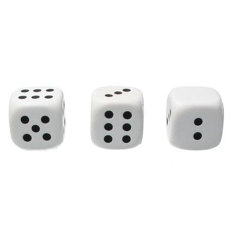 Banzaa Banzaa Stressbal Dobbelstenen set 3 stuks Medium Density 5 cm Wit‒Zwart