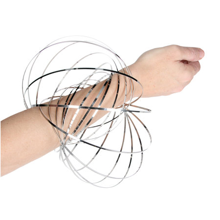 Banzaa Magic flow ring |Spiraal bloem magische armband | 3D ringen set van 3 stuks 15cm