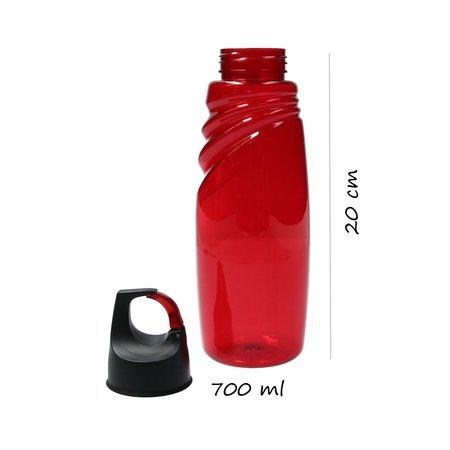 Banzaa Sport Waterfles Amazon Tritan met Karbijnhaak 700 ML Rood