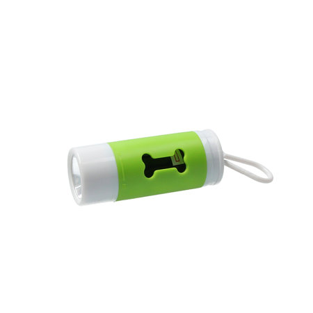 Banzaa Honden Poepzakjes Dispenser met LED Zaklamp 20 zakjes Groen