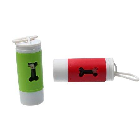 Banzaa Honden Poepzakjes Dispenser met LED Zaklamp 20 zakjes Rood