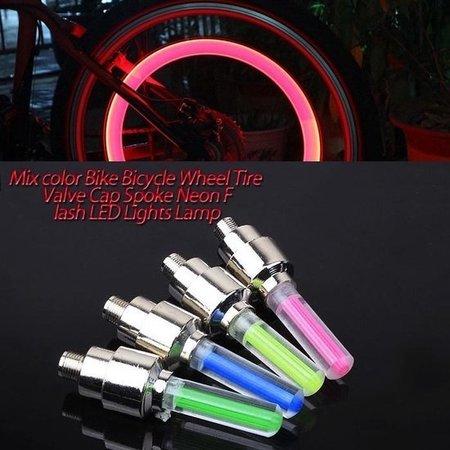 Banzaa Firefly LED - Fietswielverlichting - Ventielbevestiging - Set van 2 - Roze