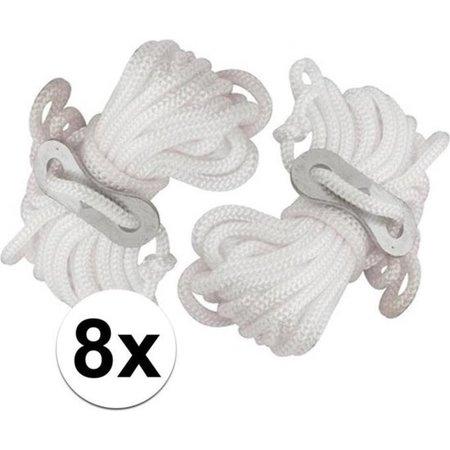 Banzaa 8x Scheerlijnen van nylon - 3,5 meter - touw met gatspanners