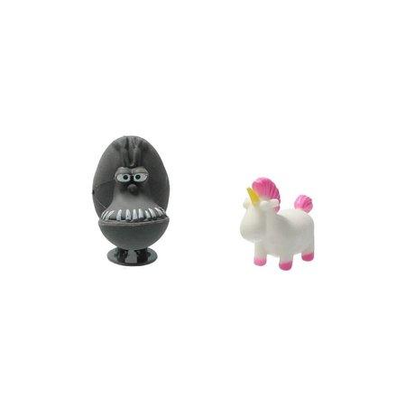 Minions Despicable Me 3D gummen Bouwbaar set van 5 Gummen – 5x5x2cm | Bouw je eigen Minion Gummenset | Kindergummen en Schoolspullen | Tekenspullen