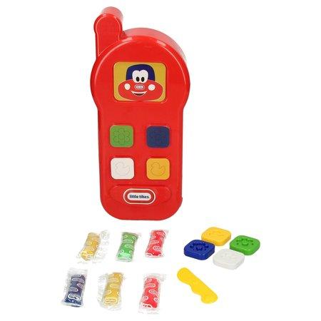 Little Tikes Little Tikes Speelgoed Telefoon Kleiset voor Kinderen inclusief Deegmes, Vormpjes en Klei – Vanaf 3 Jaar – Rood – 35 x 19 x 9 cm | Speeltelefoon | Speel Smartphone | Play Phone Dough Set