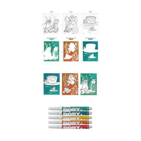 Disney Pixar Finding Dory Kleurset met 3 Kleurplaten en 3 Tekenmalls – 40x20x2cm | Kleuren en Tekenen | Tekenplezier voor Kinderen | Creatieve Ontwikkeling