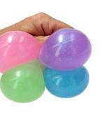Banzaa Slijmbal met Glitters 2 Stuks – Squishy – Stressbal – Knijp Speelgoed – Roze