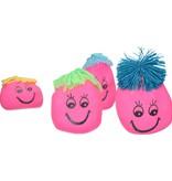Banzaa Stressbal Kneedbaar Gezichtje – Voor Fun en het Reduceren van Stress – Versterking van Hand Pols en Onderarm – Roze