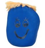 Banzaa Stressbal Kneedbaar Gezichtje – Voor Fun en het Reduceren van Stress – Versterking van Hand Pols en Onderarm – Blauw