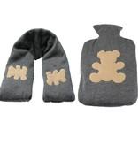 Cosy & Trendy Warmte kruik en Hals verwarmer Extra Zacht Set ‒ Hittepit Zak ‒ Koelelement ‒ Teddybeer Kruik