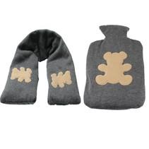 Warmte kruik en Hals verwarmer Extra Zacht Set ‒ Hittepit Zak ‒ Koelelement ‒ Teddybeer Kruik