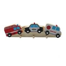 Houten Kapstok ‒ Kinderkapstok ‒ Politie Auto & Hulpdiensten 32 cm