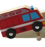 The Toycompany Houten Kapstok ‒ Kinderkapstok ‒ Politie Auto & Hulpdiensten 32 cm