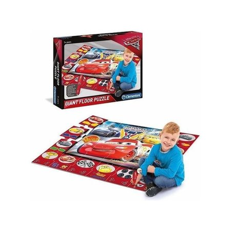 Clementoni Clementoni Disney Cars 3 interactieve vloerpuzzel 24 stukjes (70x100cm)