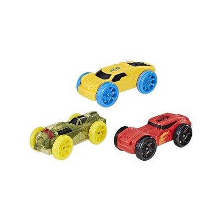 Nerf NERF Nitro Schuimauto's 3 stuks - geel, groen en rood