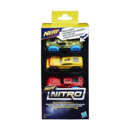 Nerf NERF Nitro Schuimauto's 3 stuks - rood, oranje en groen