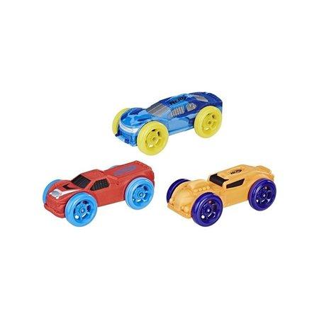 Nerf NERF Nitro Schuimauto's 3 stuks - blauw, rood en oranje
