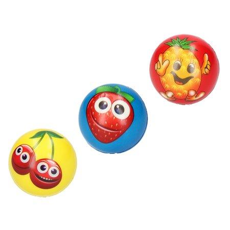 Banzaa Stressbal medium Density – 7 cm – Sensomotorische Stimulatie – Anti Stress – 3 stuks – Met Afbeelding Fruit