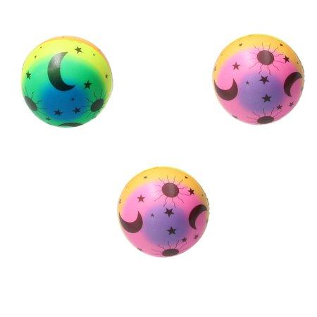 Banzaa Stressbal Soft Density – 7,5 cm – Sensomotorische Stimulatie – Anti Stress – 3 stuks – Regenboog Maan
