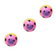 Stressbal Medium Density –  – Regenboog Voetbal -7,5 cm 3 stuks