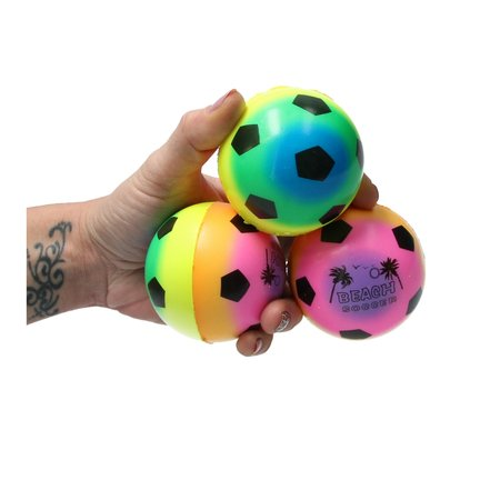 Banzaa Stressbal Medium Density – 7,5 cm – Sensomotorische Stimulatie – Anti Stress – 3 stuks – Regenboog Voetbal
