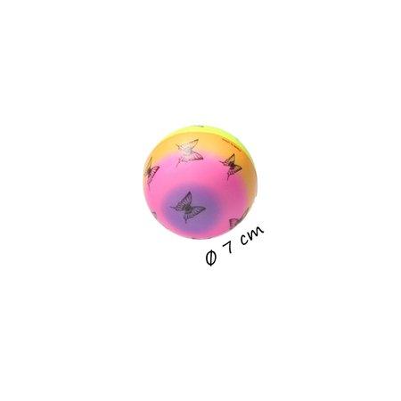 Banzaa  Stressbal Medium Density – 7 cm – Sensomotorische Stimulatie – Anti Stress – 3 stuks – Regenboog Vlinder