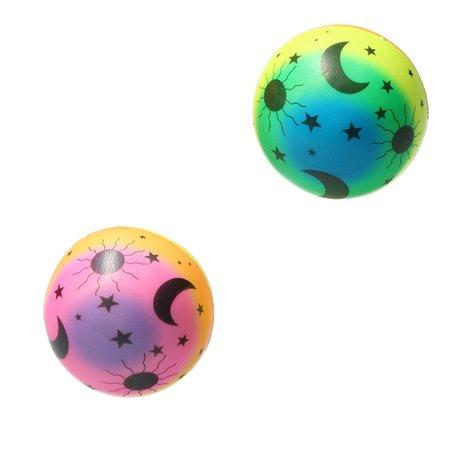 Banzaa Stressbal Medium Density – 10 cm – Sensomotorische Stimulatie – Anti Stress –2 stuks – Regenboog Maan