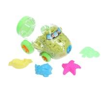 Magisch Speelzand –  Zand in opberg vliegtuig met vormpjes – Magic Sand 350 Gram Geel