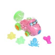Magisch Speelzand – Zand in opberg vliegtuig met vormpjes – Magic Sand 350 Gram Roze