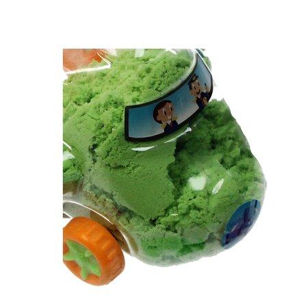 Banzaa Magisch Speelzand – Zand in opberg vliegtuig met vormpjes – Magic Sand 350 Gram Groen