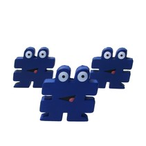 Stressbal Hashtag Medium Density 3 stuks # Blauw