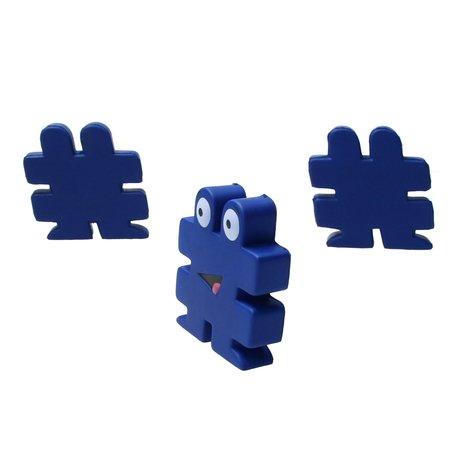 Banzaa Banzaa Stressbal Hashtag Medium Density 3 stuks # Blauw