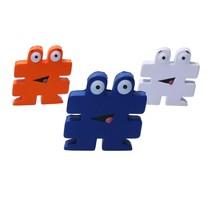 Stressbal Hashtag Medium Density 3 stuks # Wit‒Oranje‒Blauw