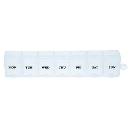 Banzaa Medicijnendoosje 7 Dagen 4 Stuks – Pillen box met Weekaanduiding – Wit