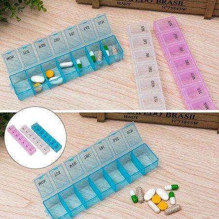 Banzaa Medicijnendoosje 7 Dagen 4 Stuks – Pillen Box met Weekaanduiding – Roze