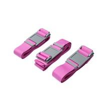Kofferriemen – Bagage Beveiligen – Kofferband 190cm – 3 Stuks Roze