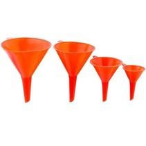 Premium Plastic Trechter Set – 4 Stuks – Ø 115/95/73/50mm |Oranje
