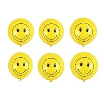 Smile bounce ballonnen 6x 40cm traktatie uitdeelkadootjes
