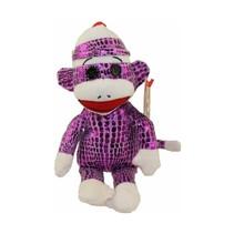 Ty Beanies Sock Monkey Aap Paars 15 cm