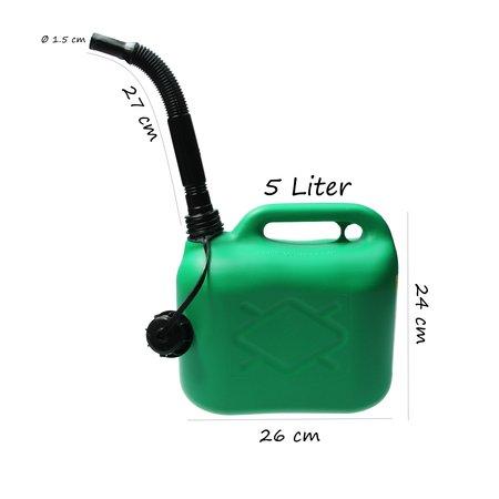 Kraftstoff Kraftstoff Jerrycan 5 Liter Groen Zware Kwaliteit 620 Gram UN Keurmerk